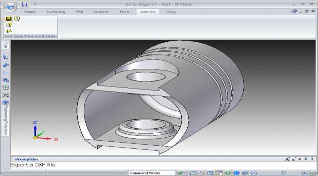 DXF Export for Solid Edge