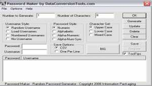 DataConversionTools.com Password Maker