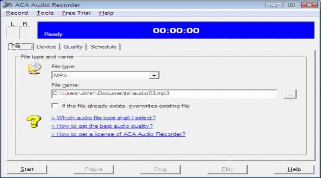 ACA Audio Recorder