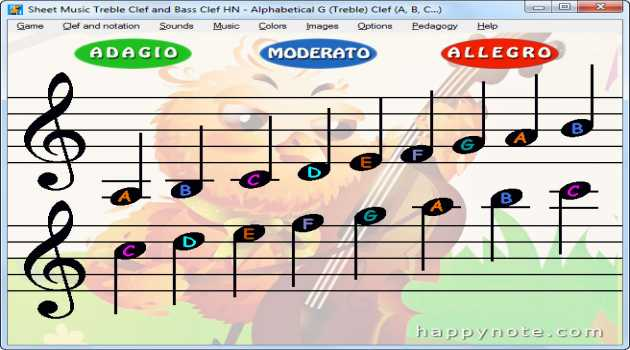 Sheet Music Treble Clef and Bass Clef HN