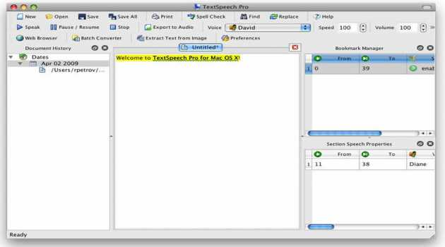 TextSpeech Pro Elements for Mac OS X