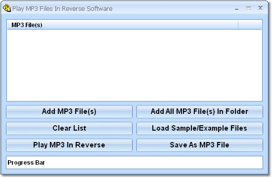 Play MP3 Files In Reverse Software