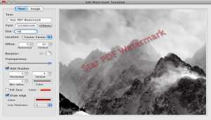 Star PDF Watermark for Mac