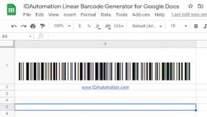 Sheets GS1 128 Barcode Script for Google