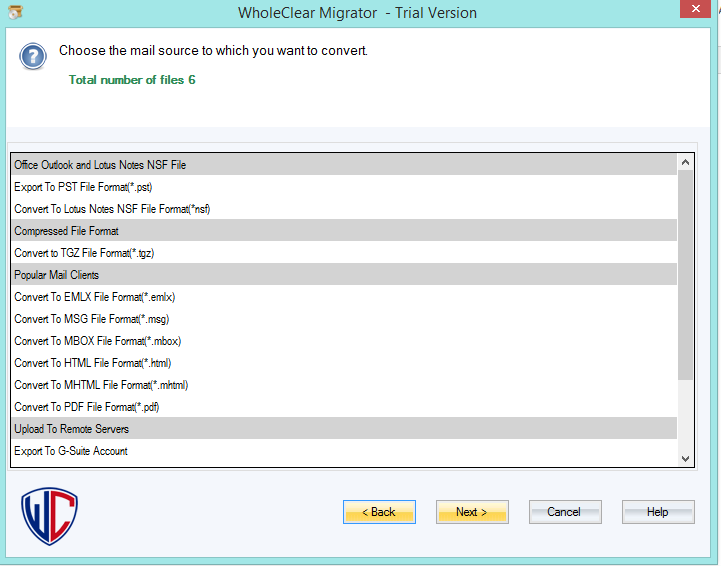 WholeClear PST to PDF Converter