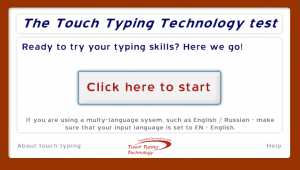 Touch Typing Technology test