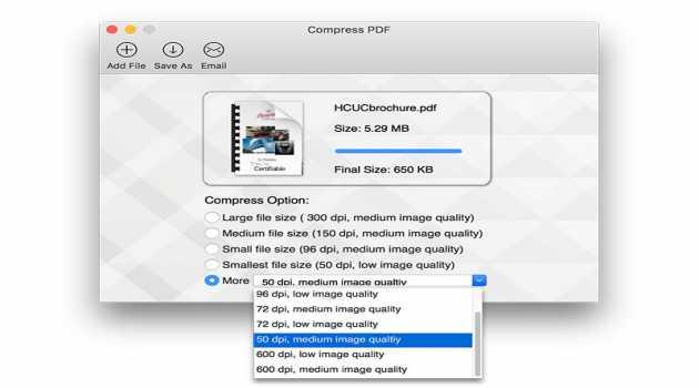 Compress PDF for Mac