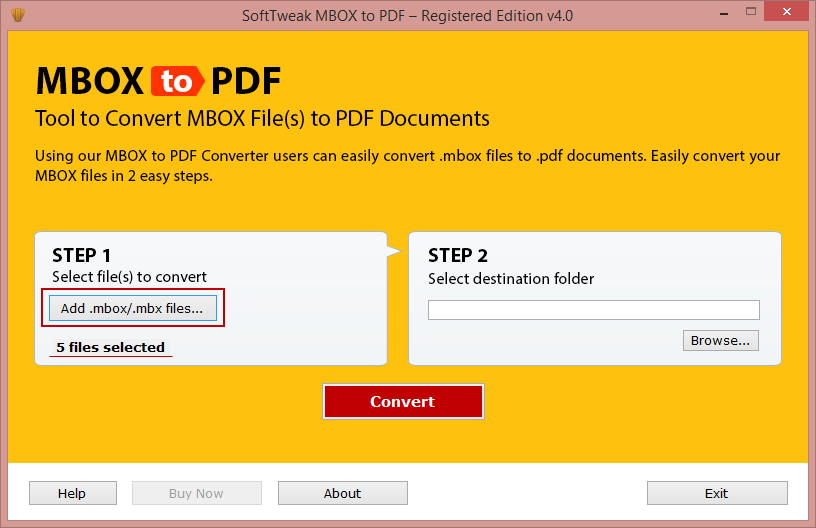 Convert MBOX Mail in PDF File