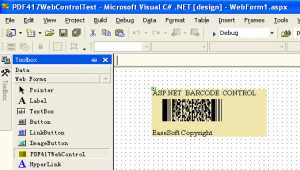 EaseSoft PDF417 Barcode ASP.NET Control