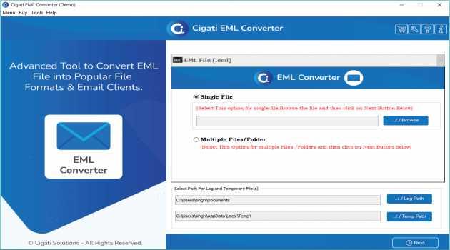 Cigati EML to PDF Converter