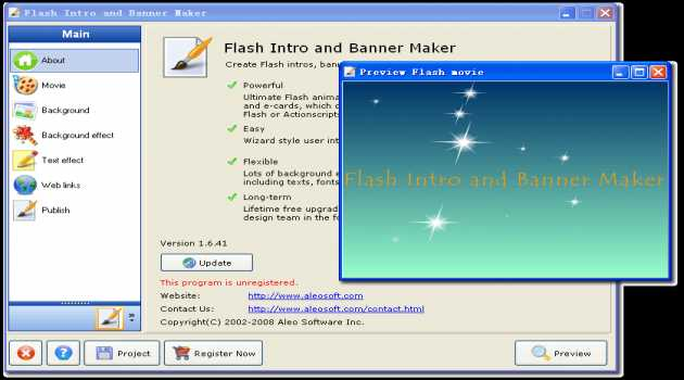 Flash Intro and Banner Maker