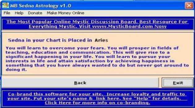 MB Sedna Astrology