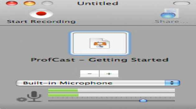 ProfCast for Macintosh