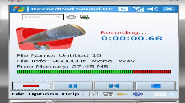 RecordPad  Recorder Windows CE