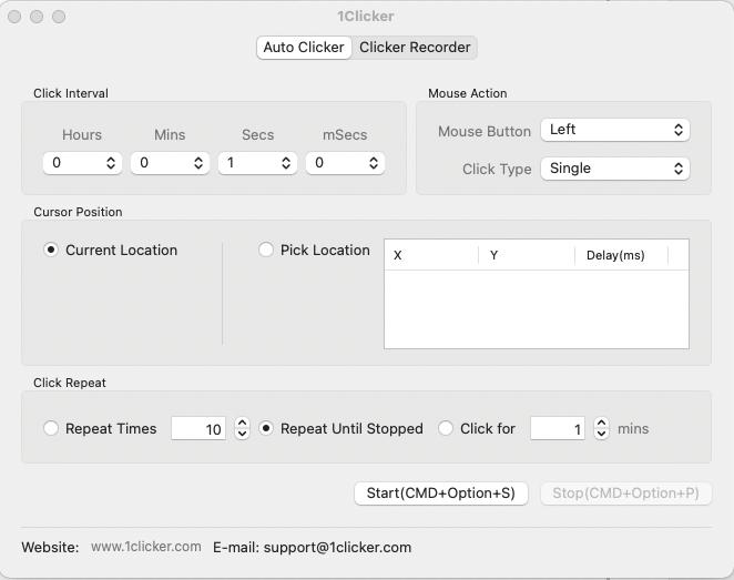 Free Auto Clicker for Mac