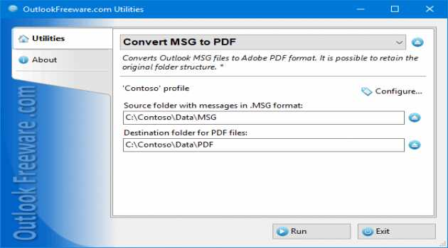 Convert MSG to PDF for Outlook