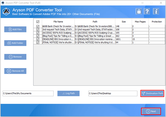 Aryson PDF Converter