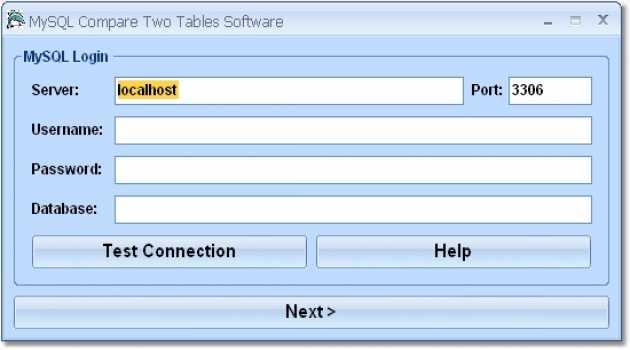 MySQL Compare Two Tables Software