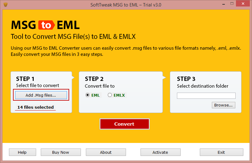 Email Convert MSG to EML