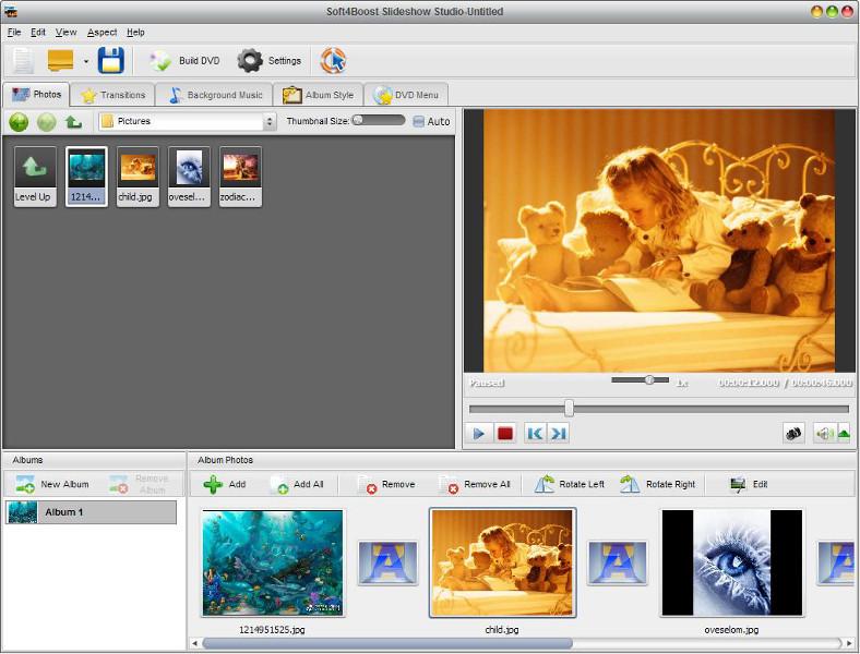 Soft4Boost Slideshow Studio