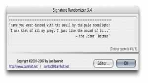Signature Randomizer