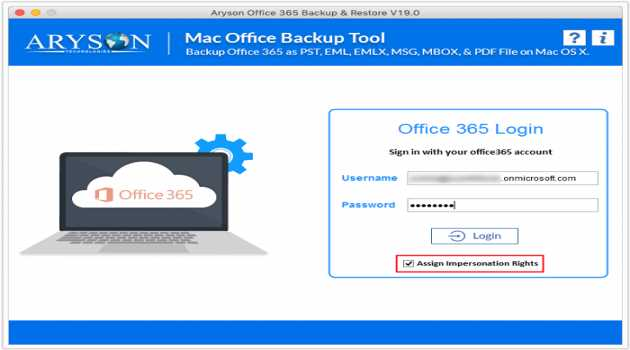 Aryson Mac Office 365 Backup Tool