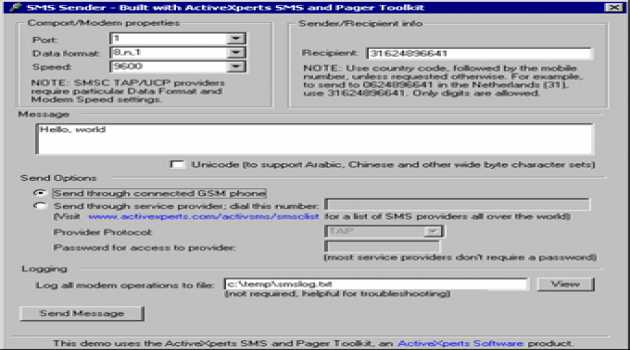 SMS and Pager Toolkit