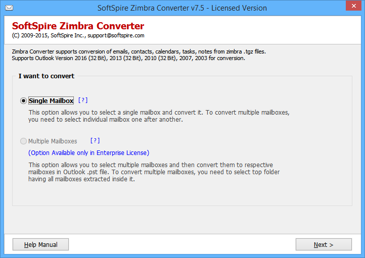 Export Zimbra Users to PST