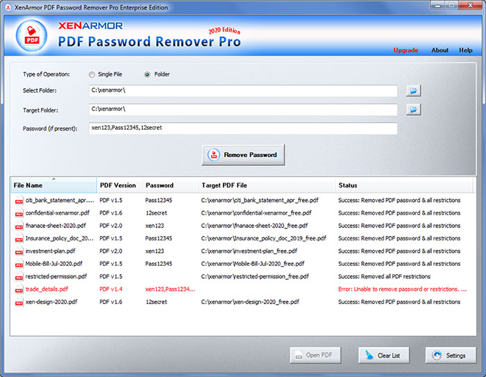 PDF Password Remover Pro