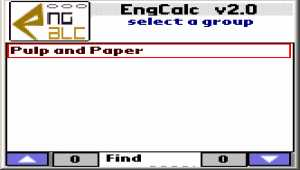 EngCalc(Pulp and Paper)- Palm Calculator