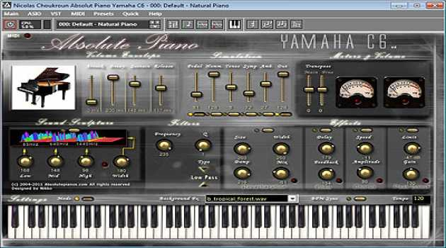 Absolute Yamaha C6 Virtual Piano