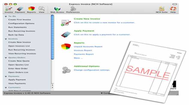 Express Invoice Plus Edition for Mac