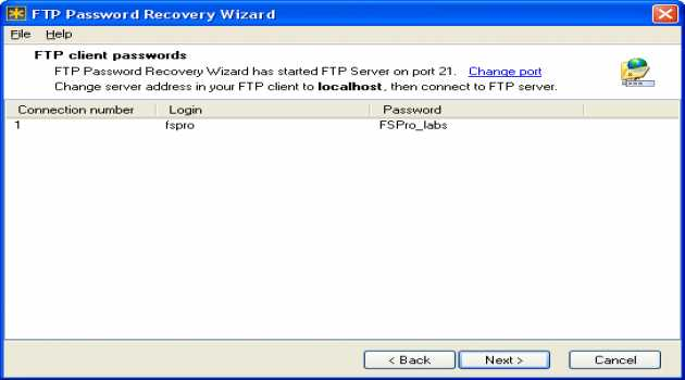FTP Password Recovery Wizard