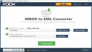ZOOK MBOX to EML Converter