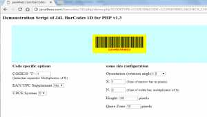 J4L Barcodes 1D for Php