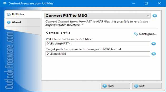 Convert PST to MSG for Outlook