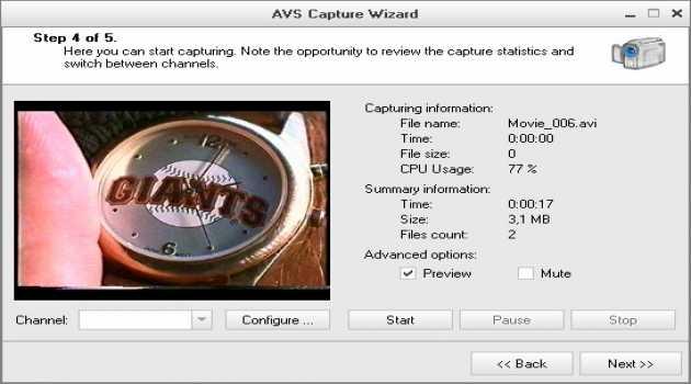 AVS Capture Wizard