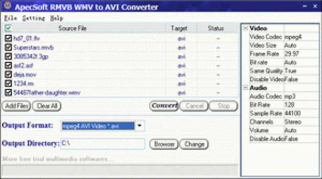ApecSoft RMVB WMV to AVI Converter