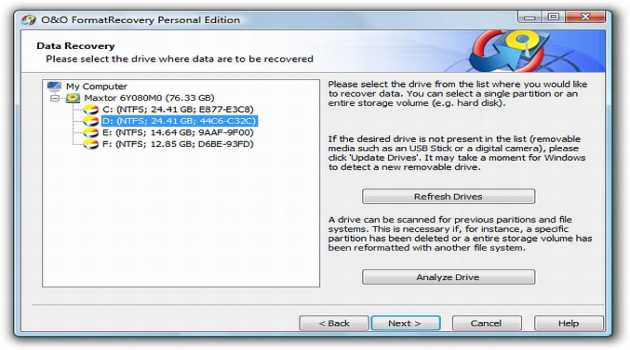 O&O FormatRecovery Personal Edition