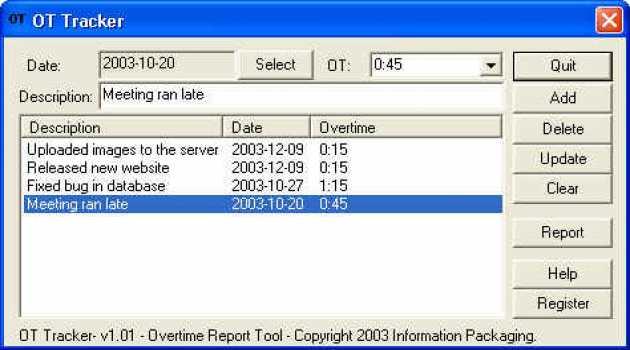 IP Overtime Tracker