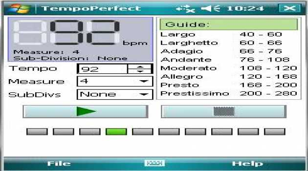 TempoPerfect Metronome For Pocket PC