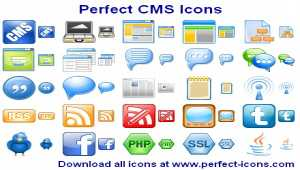 Perfect CMS Icons