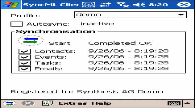 Synthesis SyncML Client PRO for Windows Mobil
