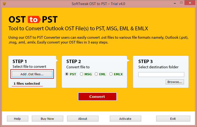 OST mail to PST Converter