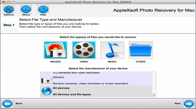 AppleXsoft Photo Recovery for Mac