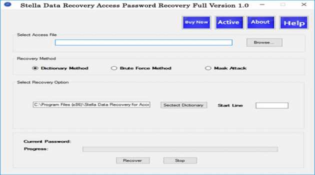 Recover MDB Password