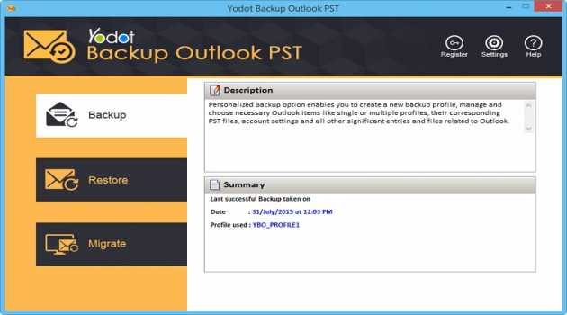 Yodot Backup Outlook PST Software
