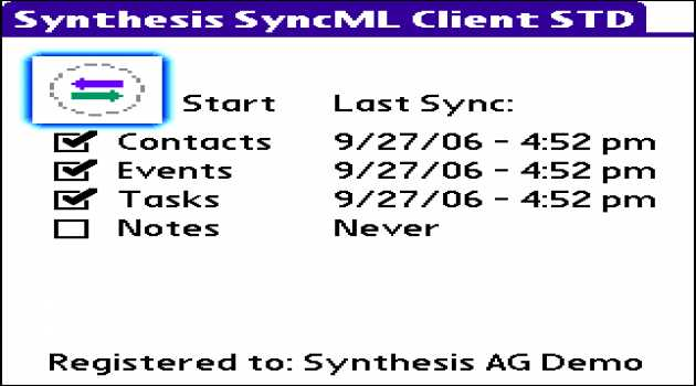 Synthesis SyncML Client STD for PalmOS