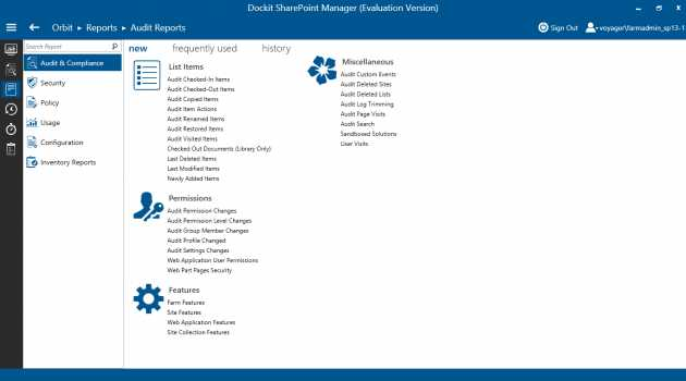 SharePoint Governance and Reporting