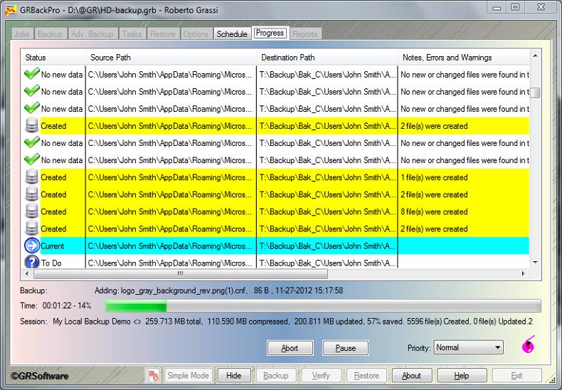 GRBackPro Server Backup